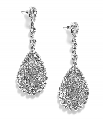 Crystal Teardrop Studs - 254431