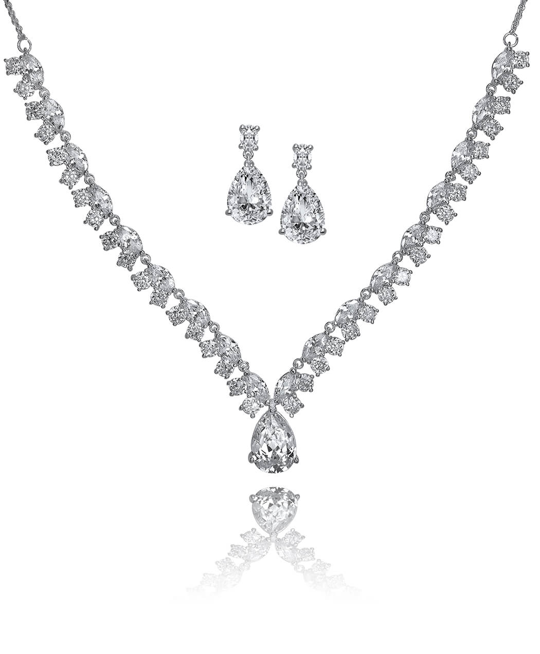 V- Shaped Tear Drop CZ Set