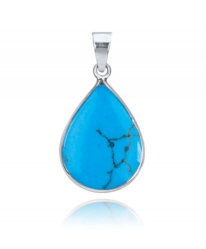 Sterling Silver and Turqoise Pendant