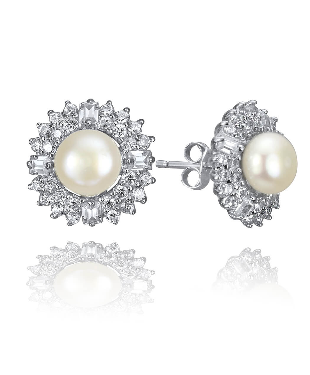 7249d232e Faux Pearl and Cubic Cluster Studs | Vivah Jewellery