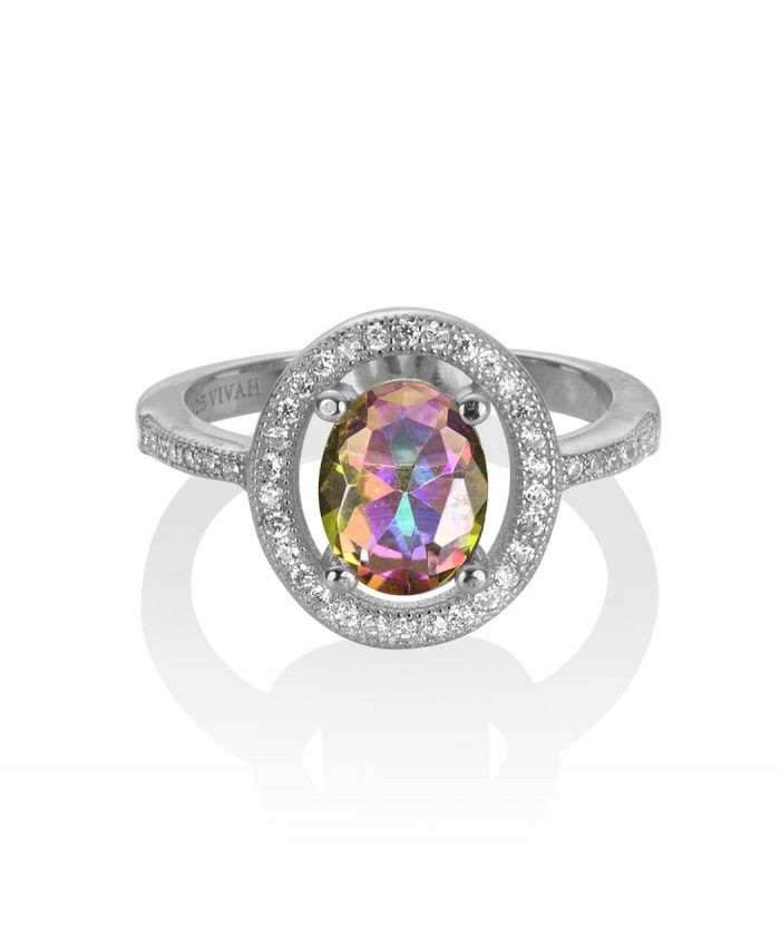Sterling Silver and Mystic Topaz Ring