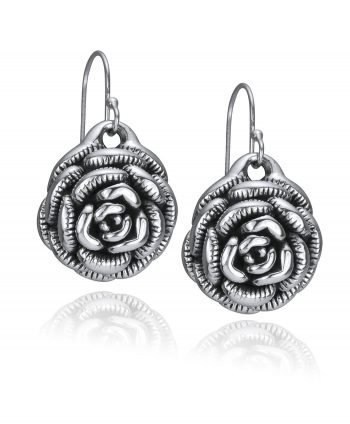 Electroform Rose Drop Earrings
