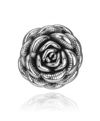 Sterling Silver Pendant – Electroform Rose