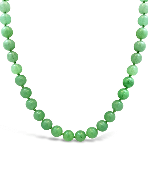 Green Jade Ball Necklace