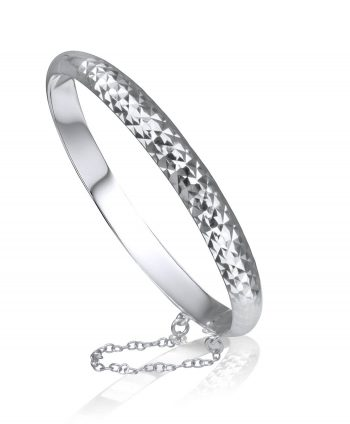 Sterling silver bracelet with a diamond cut finish