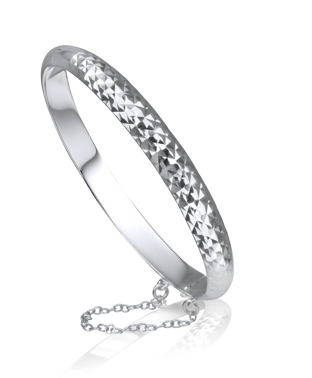 Diamond Cut Sterling Silver Bangle