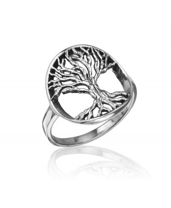 Oxidized Silver Tree of Life Ring