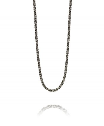 Oxidized Sterling Silver Pikun Chain