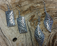 Oxidized Sterling Silver Bali Earrings