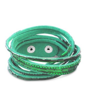 Emerald Crystal Wrap Bracelet