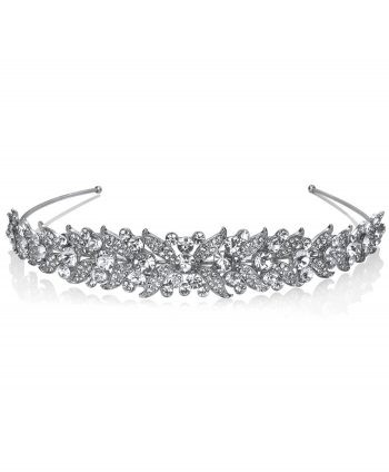Rhodium Plate and Crystal Hair band