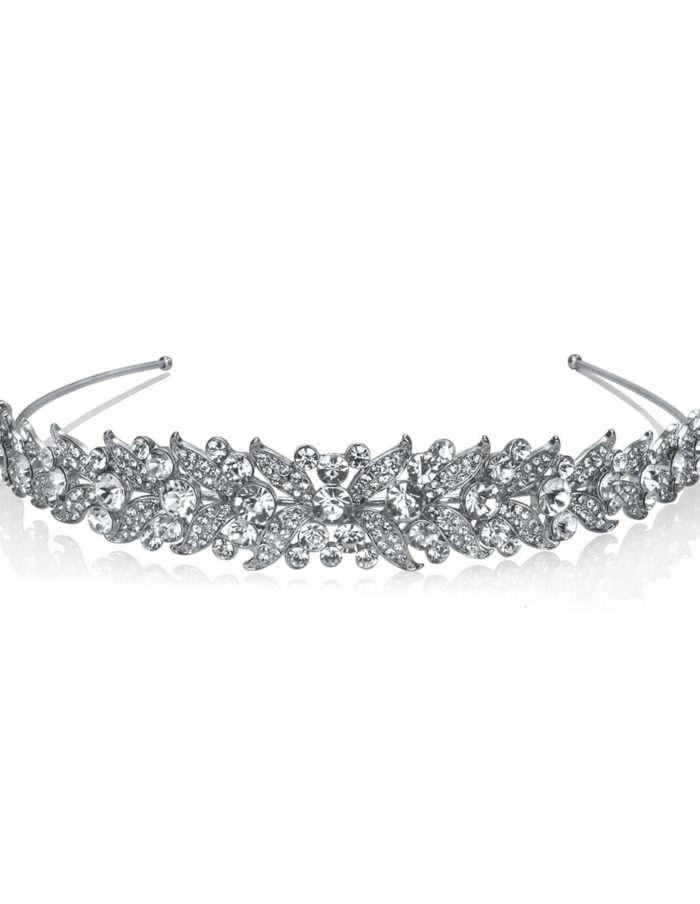 Rhodium Plate and Crystal Hair band 1