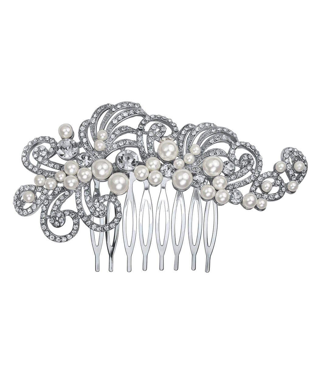 Pearl and Crystal Curl Hair Comb
