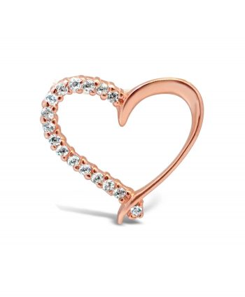 Diamonelle rose gold heart pendant