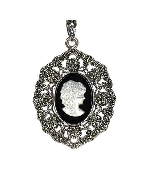 skull halloween cameo pendant shops silver necklaces zaful p necklace