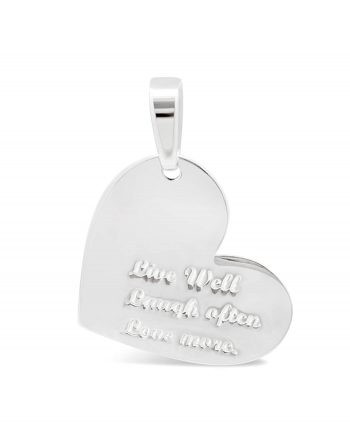 Engraved Sterling Silver Love Quote Pendant