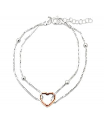 Rose Gold Valentines Ball Bracelet