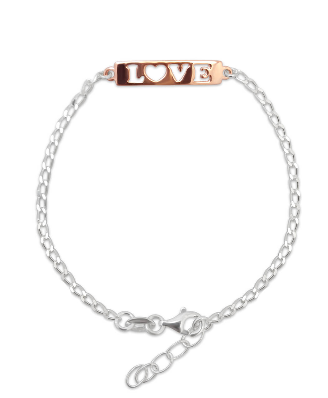 Rose gold valentines day bracelet
