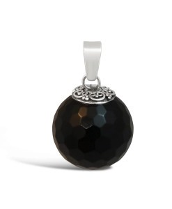 Black Onyx Ball Pendant