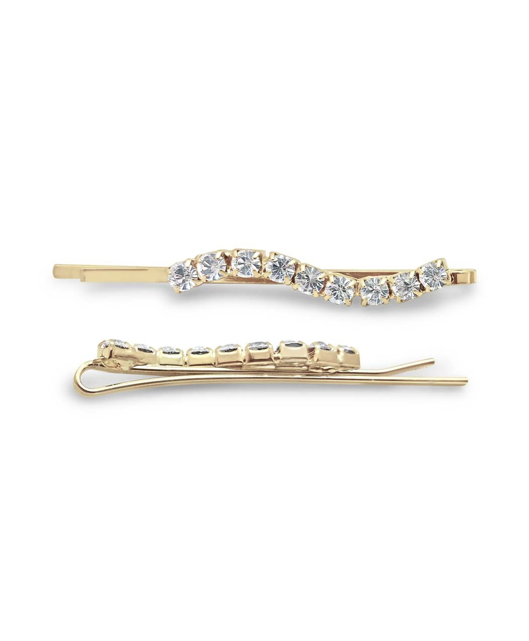 Gold Crystal Bobby Pin