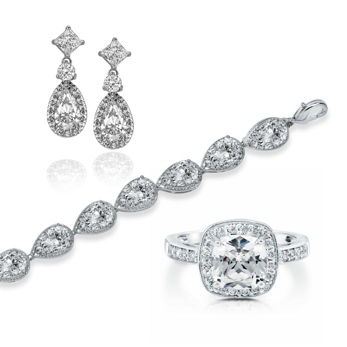 Retro Bridal Jewelry Set