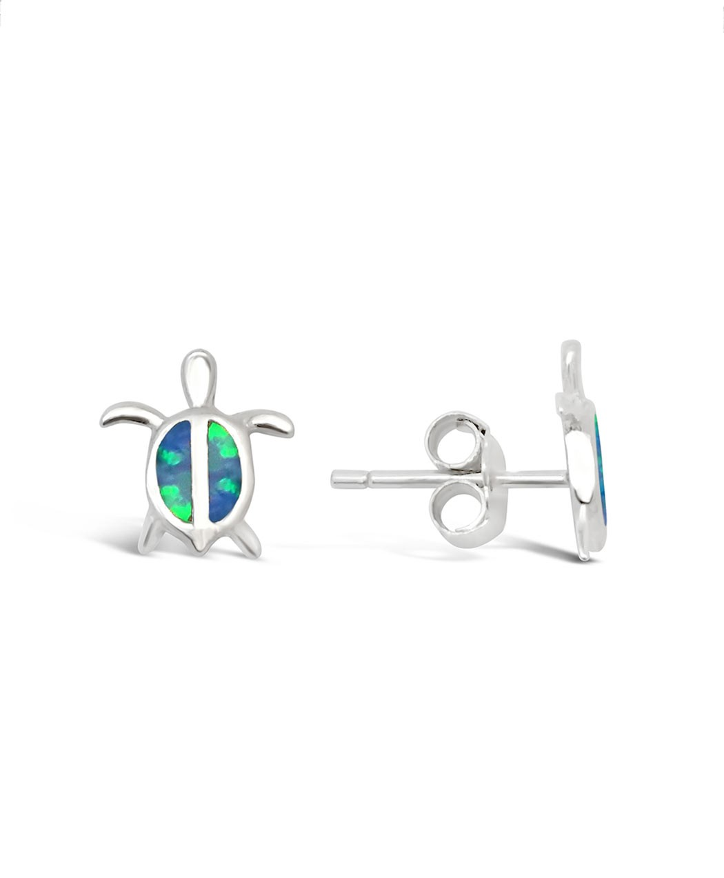Opal Turtle Stud Earrings