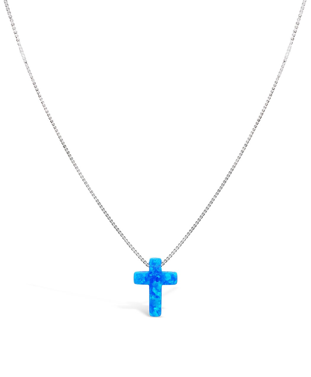 Opal Crucifix Necklace