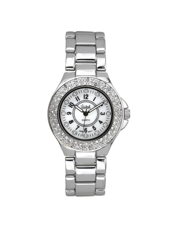 Mother of Pearl & Crystal Pavé Watch 1