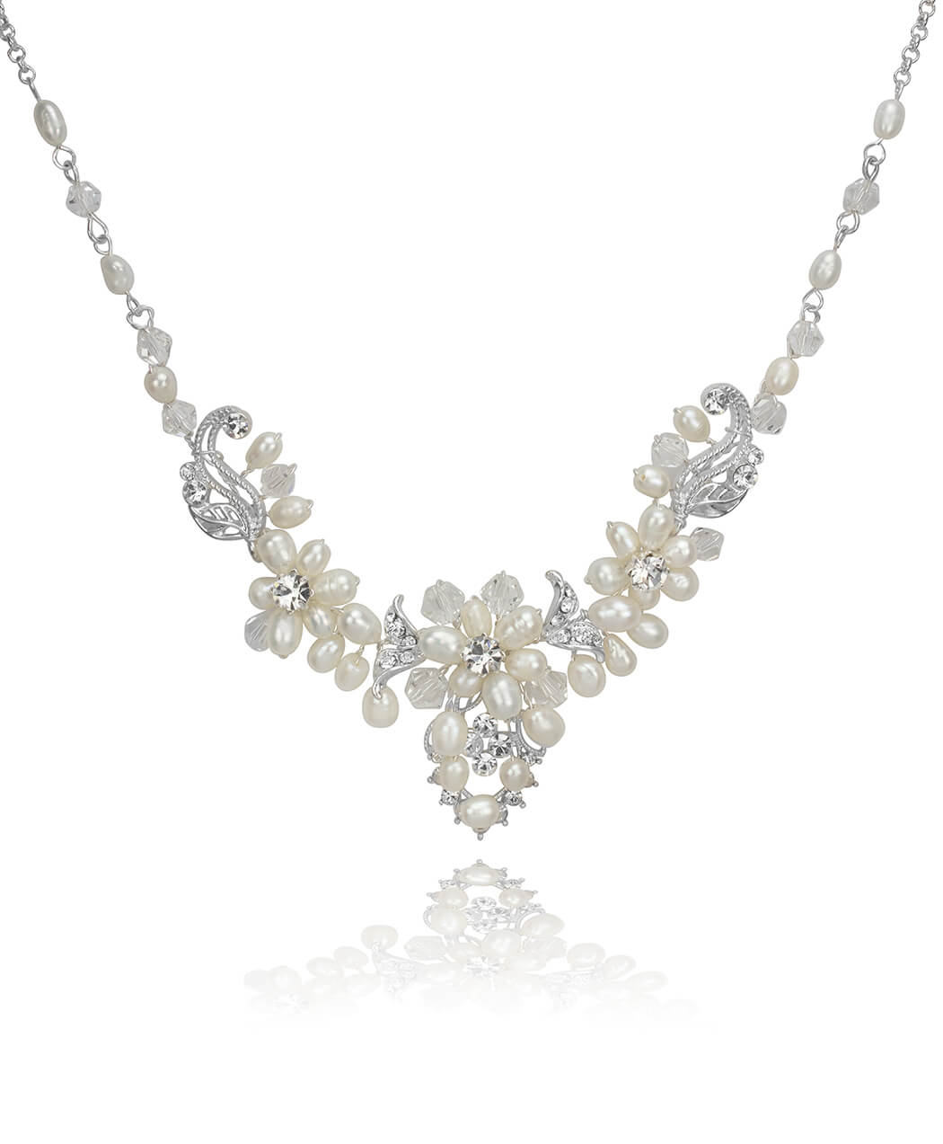 Freshwater Pearl and Crystal Cluster Set 3