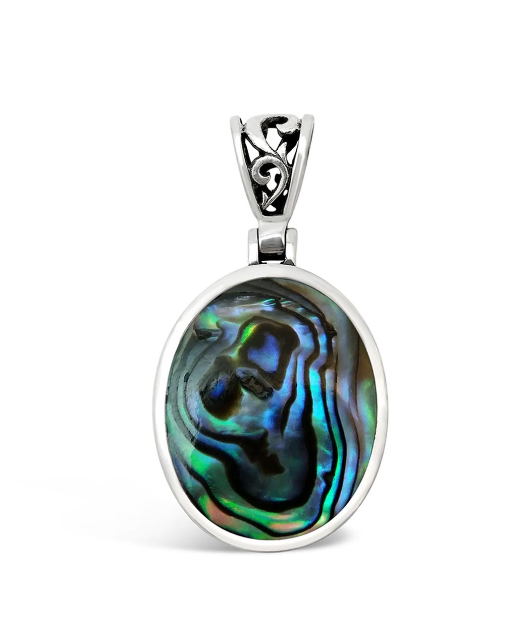 silver products pendant jewelry chloe necklace turquoise yesenia statement flourish cate
