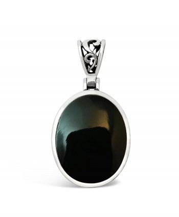 Black Onyx Double Sided Pendant