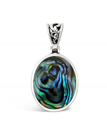 Double Sided Paua Shell Pendant