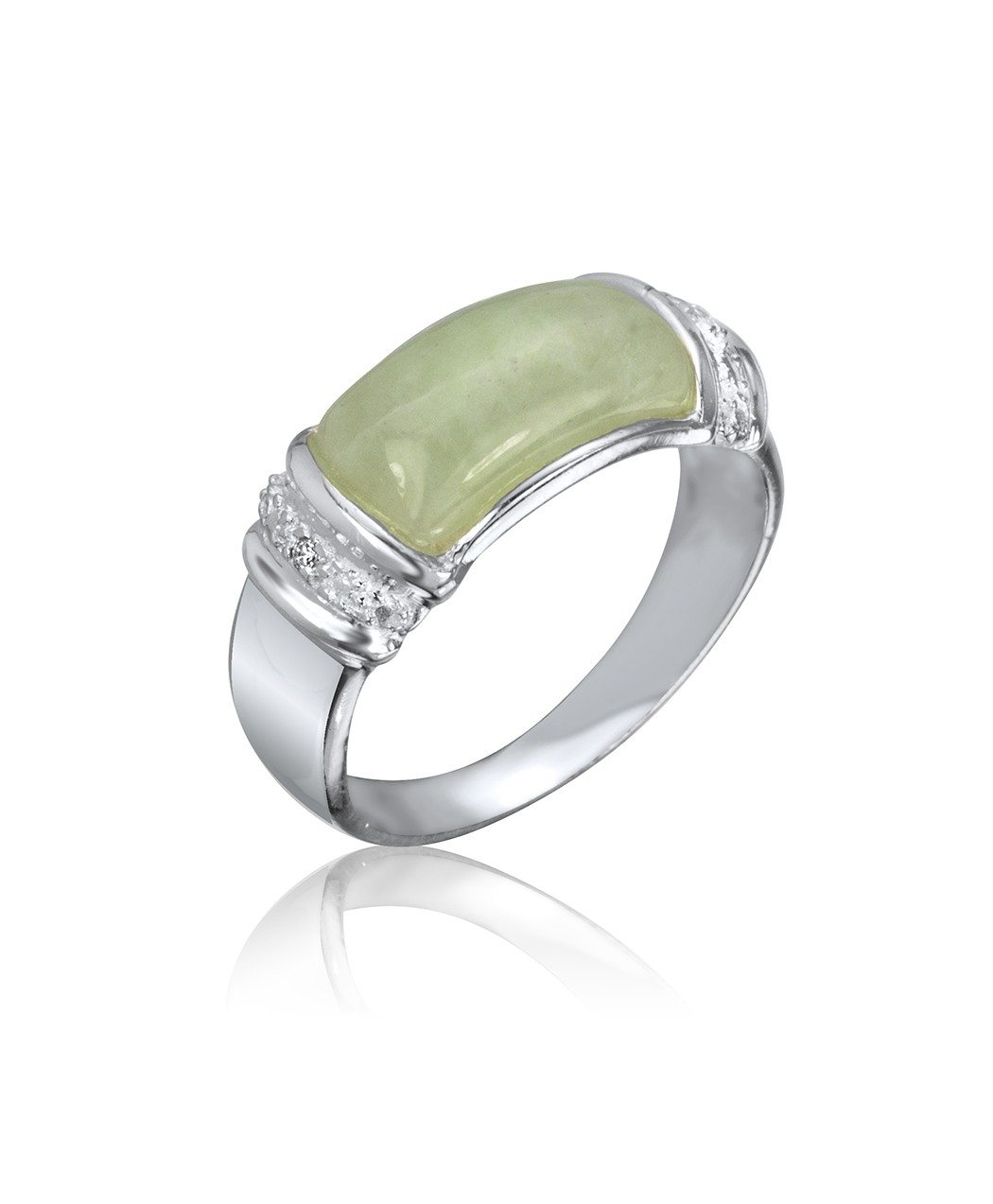 Sterling Silver & Jade Ring