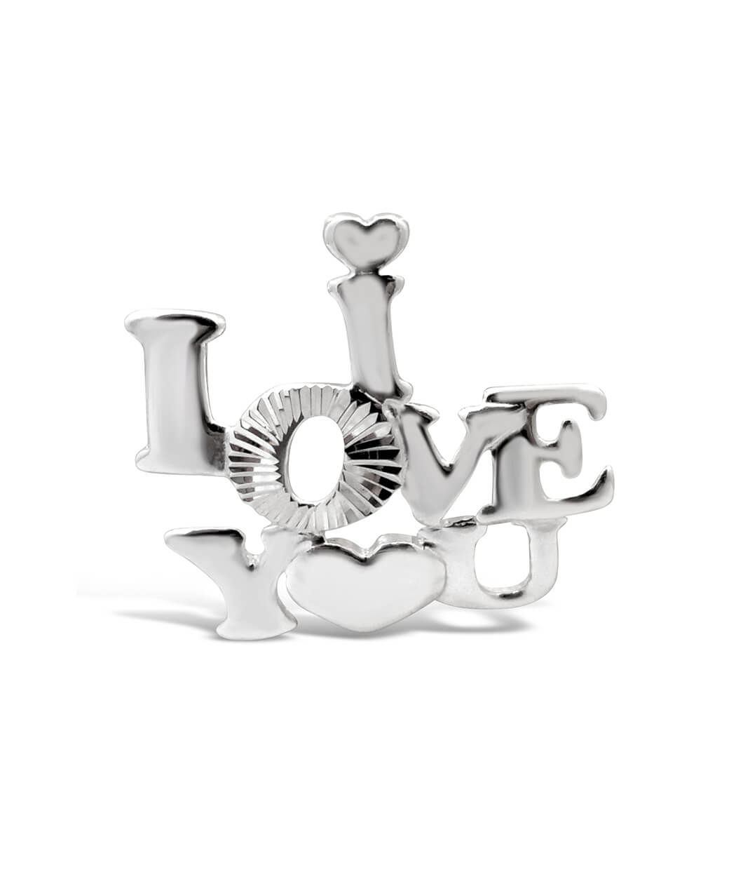 Sterling Silver 'Love You' Pendant