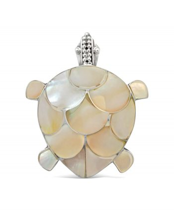 Mother of Pearl Turtle Pin & Pendant (2-in-1)