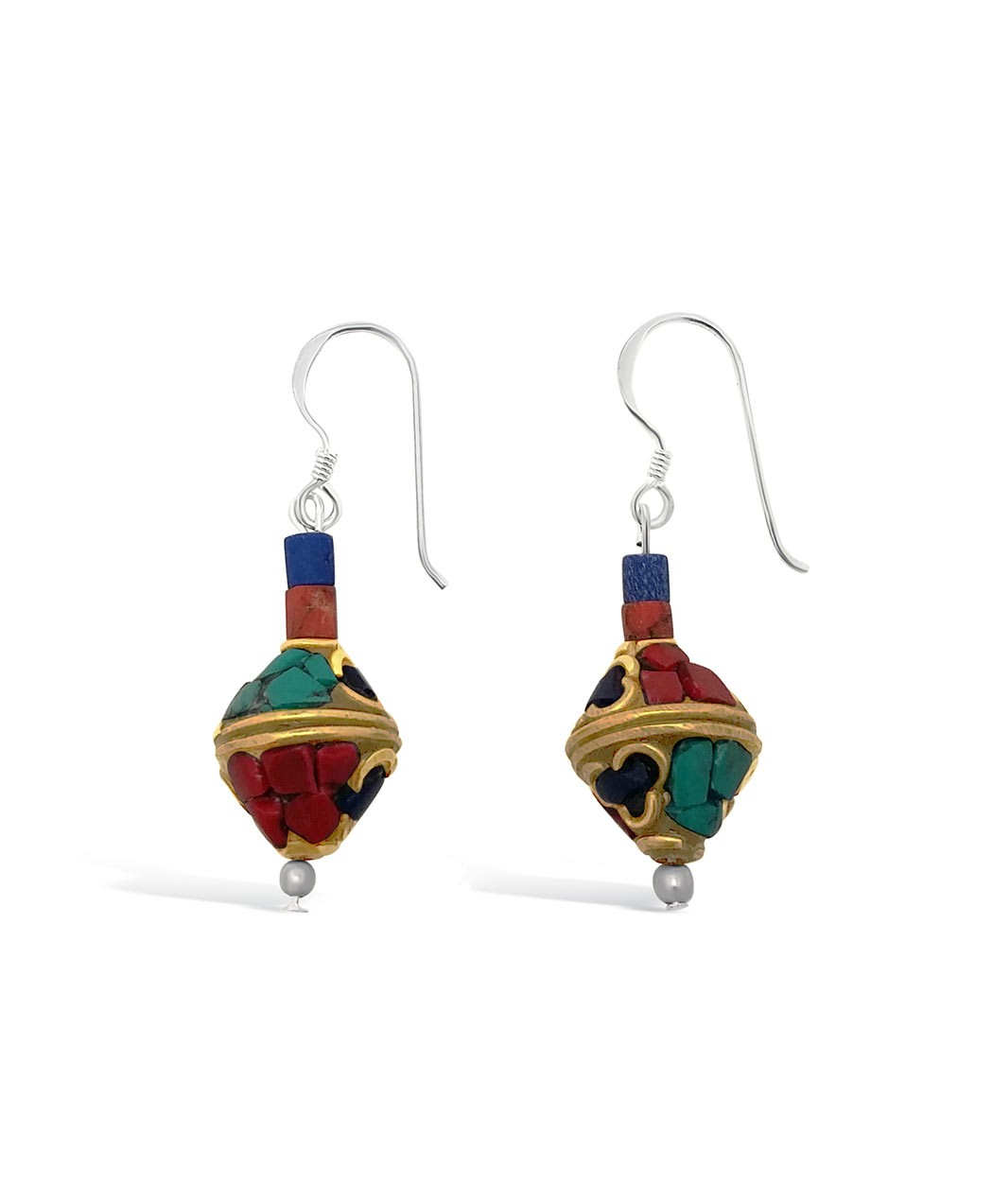 Boho Style Nepalse Turquoise Earrings