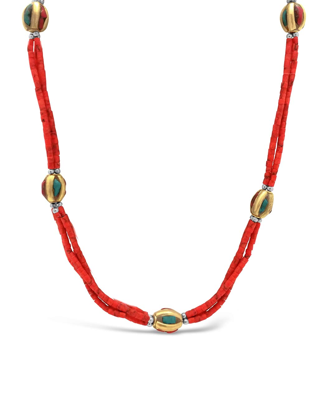 Red Coral Nepalese Necklace