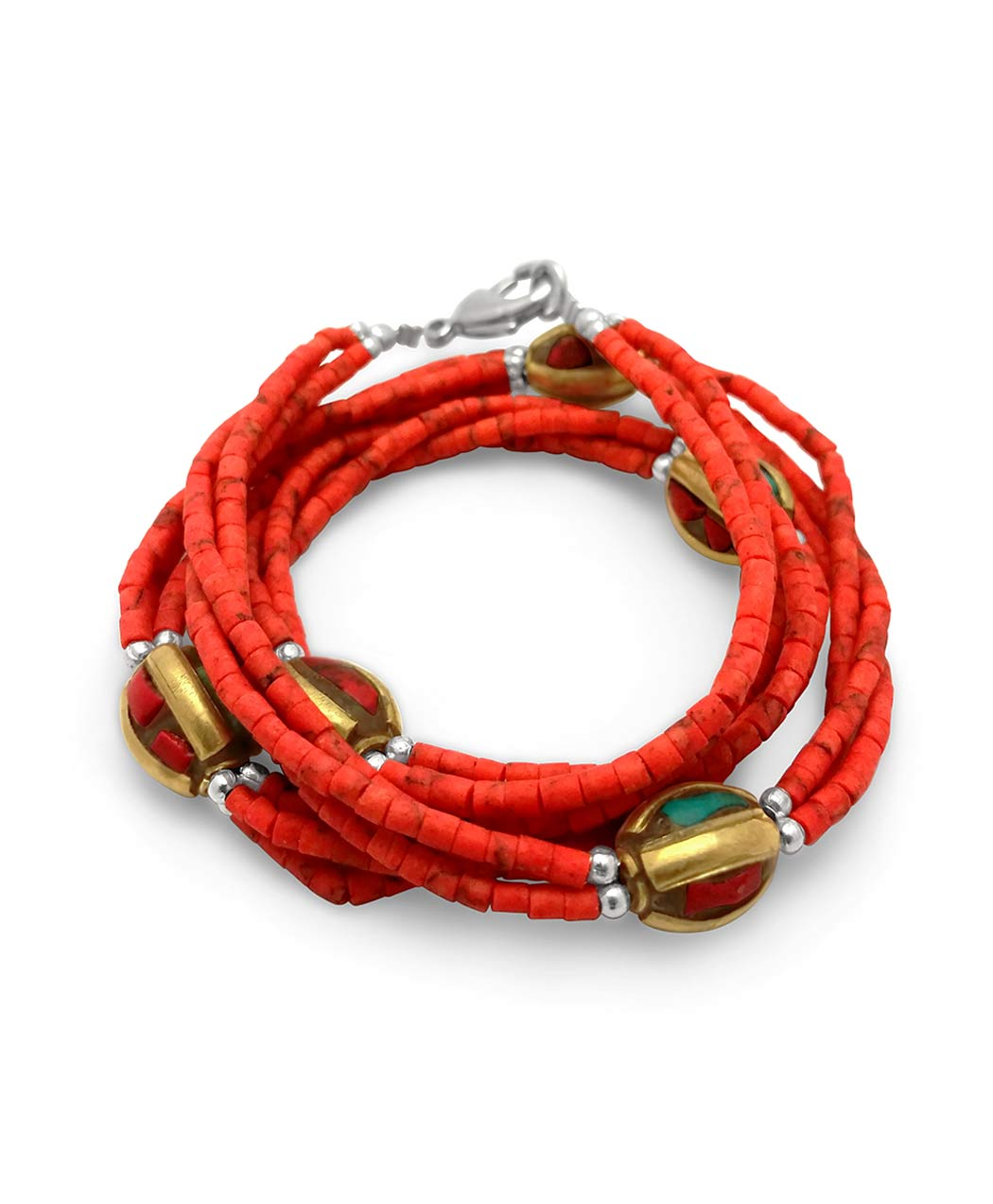 Red Coral Nepalese Bracelet