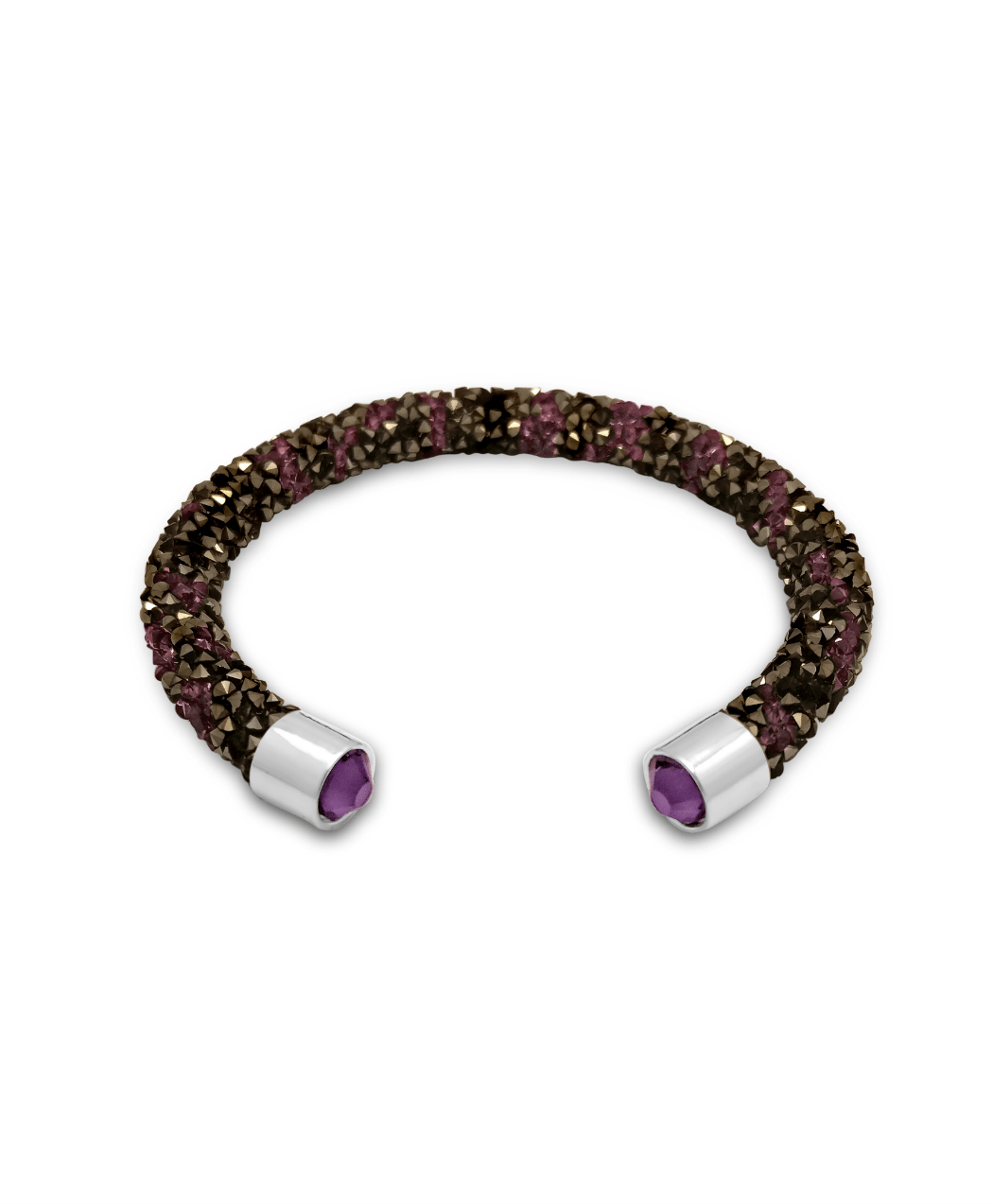 Purple Lava Crystal Cuff