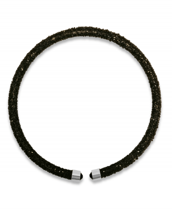 Black Lava Crystal Collar