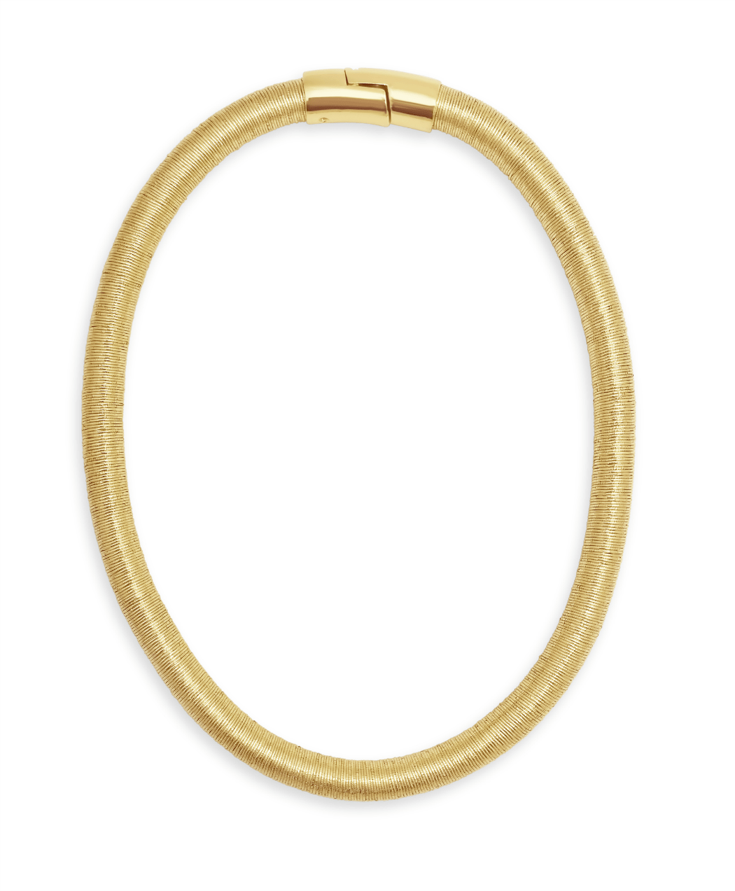 Gold Coiled Necklace