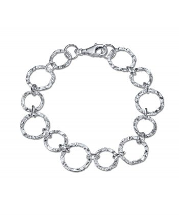 Sterling Silver Hammered Bracelet