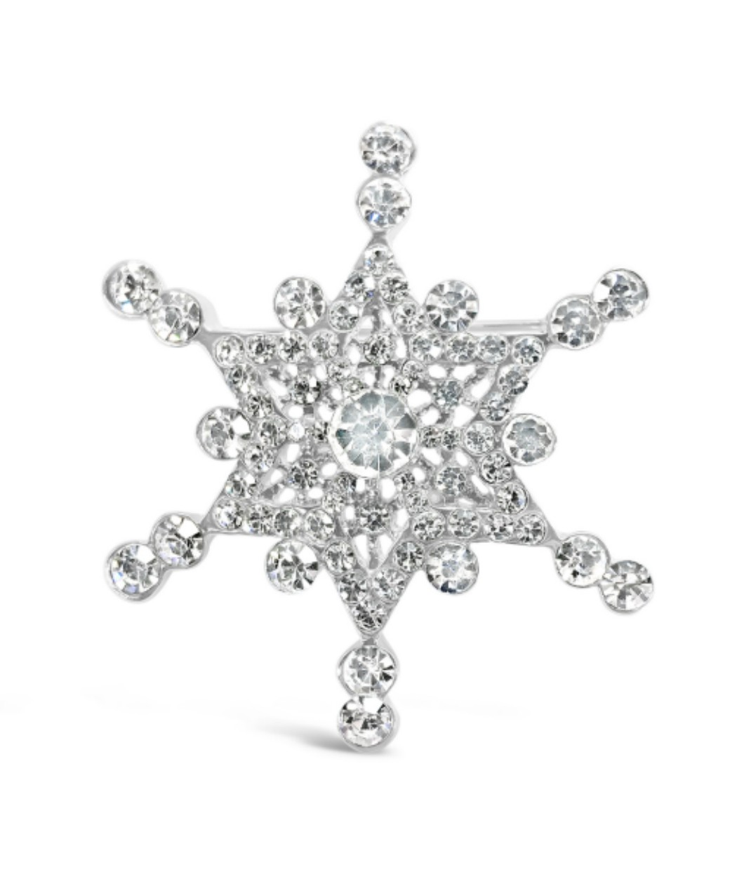 Snowflake Crystal Point Pin