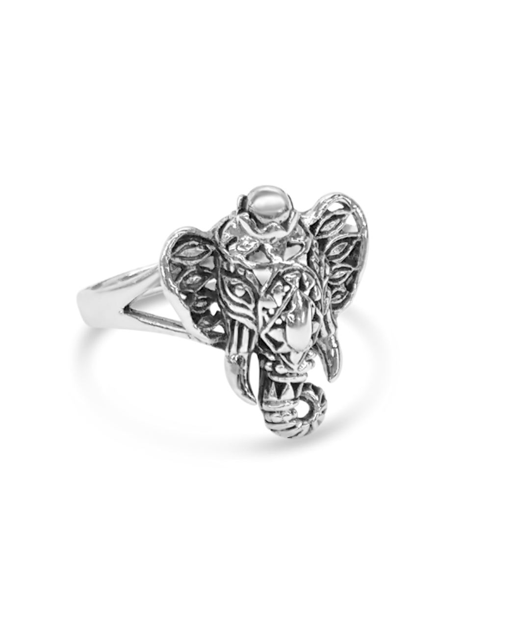 Elephant Filigree Ring