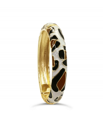 Animal Print Enamel Cuff
