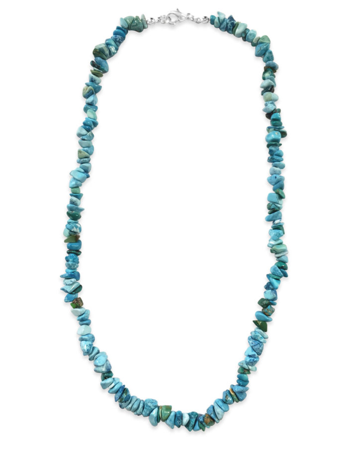 shades of blue turquenite chip necklace