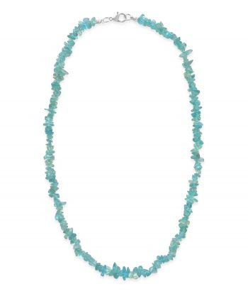 Light Blue Apatite Chip Necklace