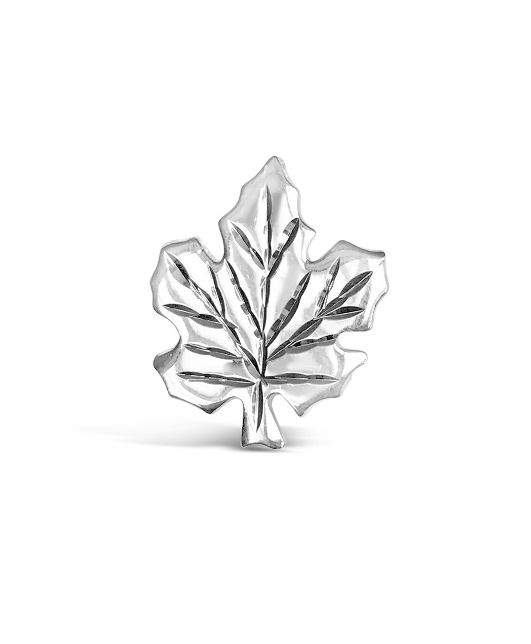 Sterling Silver Maple Leaf Pin Pendant