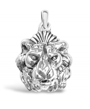 Sterling Silver Electroform Lion Head Pendant