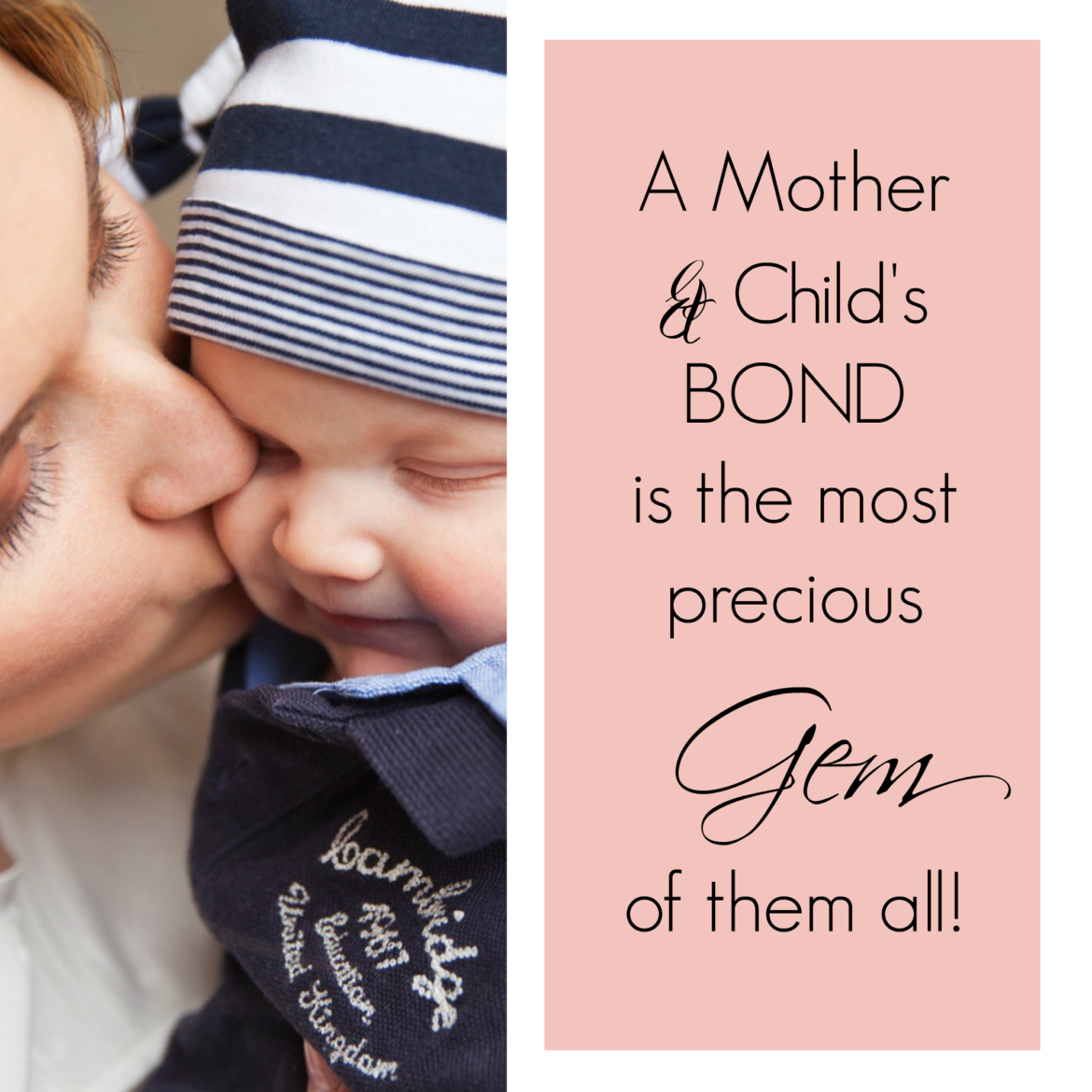 Mother and Child - A Mother & Child's BOND is the most precious GEM of them all!
